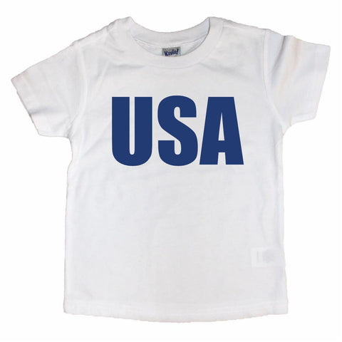 USA Toddler Tee White & Blue