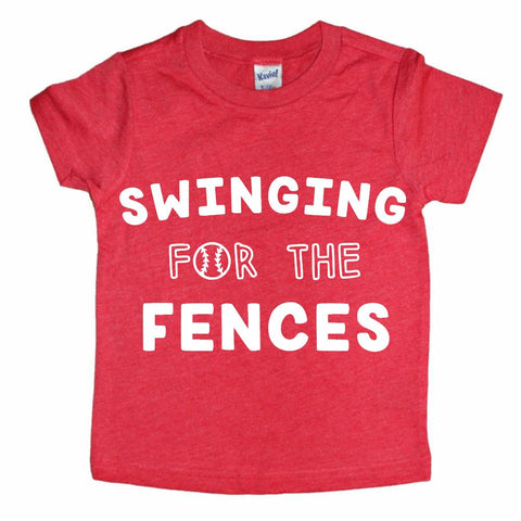 Swinging for the fences (red tee)