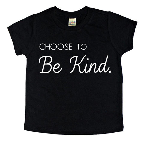 Choose to be kind Toddler (Black)