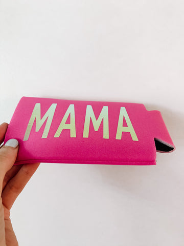 MAMA Holographic Slim Can Cooler