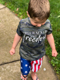 Firecrackers and Freedom Camo Toddler Tee