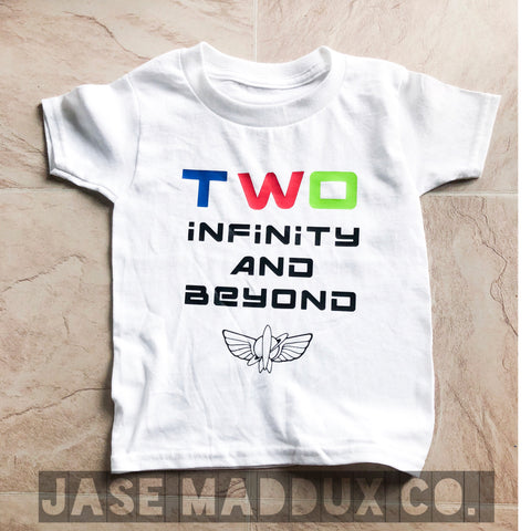 Two Infinity and Beyond Toy Story Birthday Tee