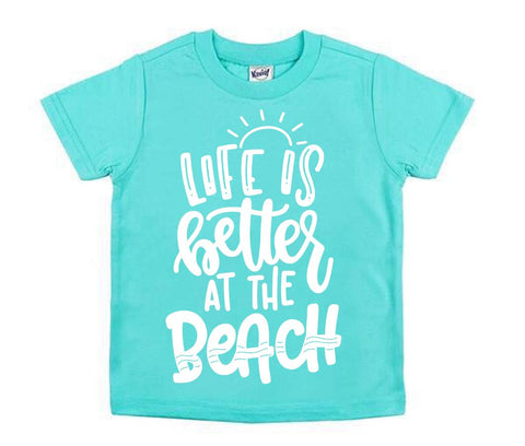 Life Is Better at the Beach (Blue/White)
