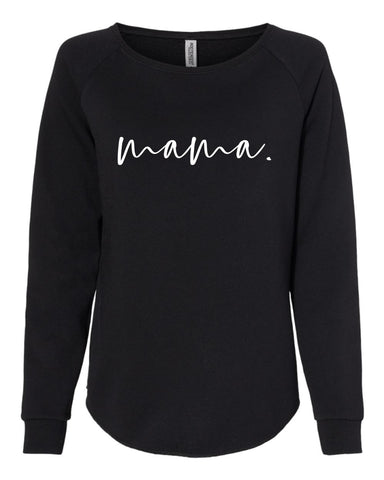 mama. crewneck sweatshirt (BLACK)