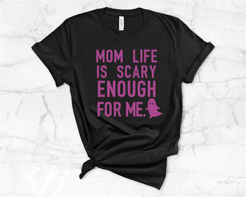 Mom Life is scary enough for me- Purple