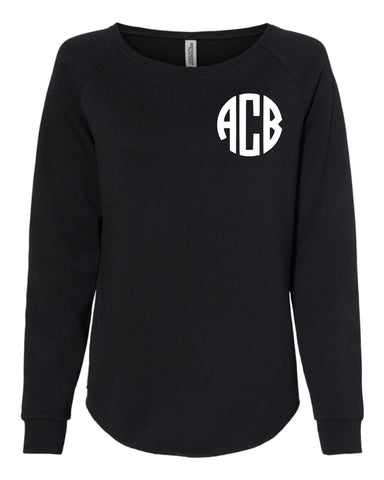 Monogram Crewneck Sweatshirt (BLACK)