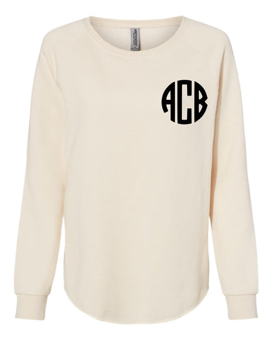 Monogram Crewneck Sweatshirt (CREAM)
