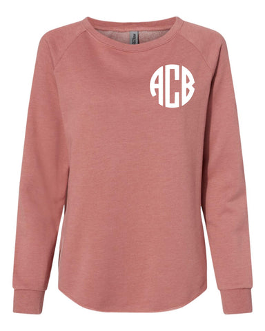 Monogram Crewneck Sweatshirt (DUSTY ROSE)