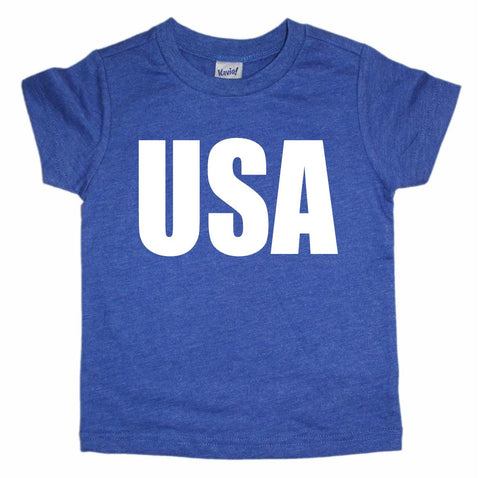 USA Toddler Tee- Blue