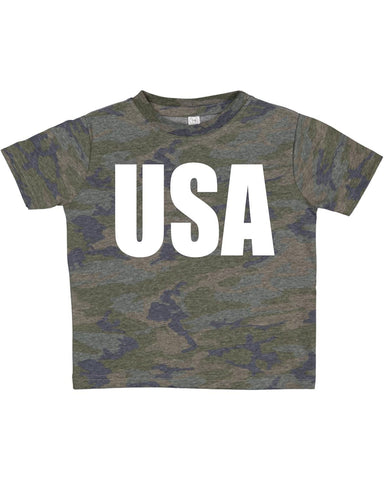 USA Toddler Tee- Camo