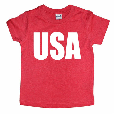 USA Toddler Tee- Red