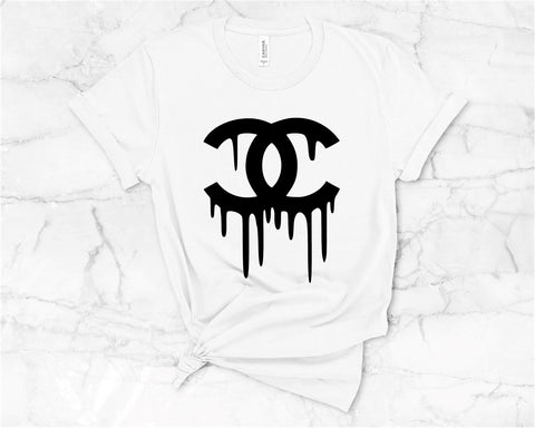 Designer Inspired White/Black Tee