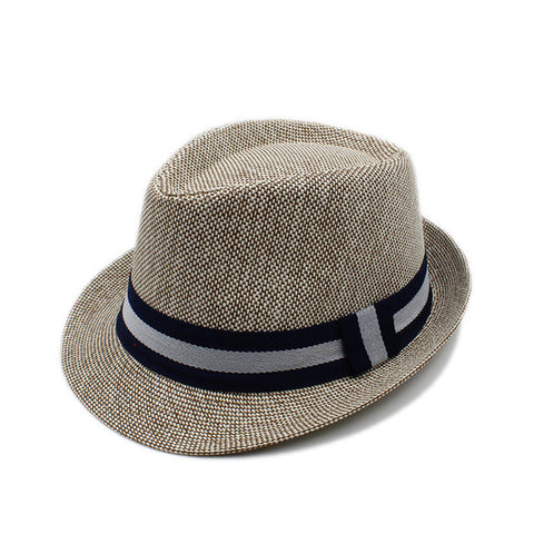 Fashion Summer Women Men Linen Beach Boater Sun Hat For Elegant Lady Gangster Trilby Fedora Cap Gentleman Dad Travel Panama Hat