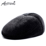 [AETRENDS] 2017 New Newsboy Caps with Ear Flaps Winter Hats for Men Warm Hat Z-6016