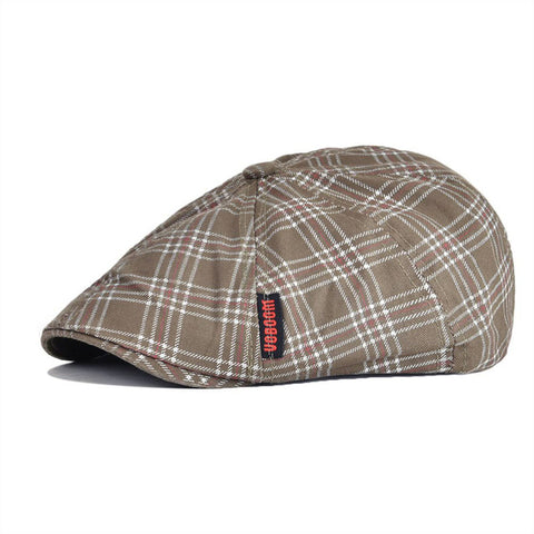 VOBOOM Summer Autumn Cotton Flat Ivy Cap Men Women 8 Panel Design Gatsby Hat Plaid Beret Newsboy Boina for Boys 048