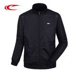 SAIQI Men Outdoor Golf Jacket Solid Stand Collar Jacket Sportwear Coat For Male Brand Original Design Zipper Windproof Jackets