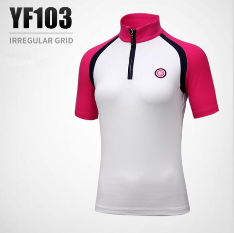 PGM new ladies short-sleeved T-shirt summer women golf Sportswear comfortable fabric stretch Slim Anti-Pilling Golf Shirts