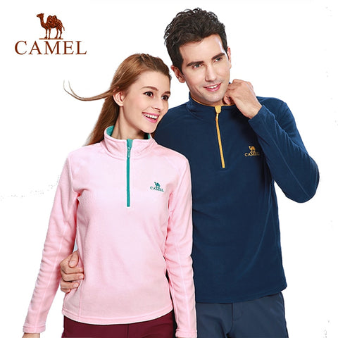 CAMEL Outdoor Fleece Hiking Jacket Men Women Autumn Winter Windbreaker Thick Warm Softshell Jacket Mountaineering Camping Coat