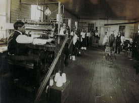 Old photo of the Ohio Truss Company factory in the early 1900's