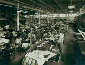 Old photo of the Ohio Truss Company factory in the late 1900's