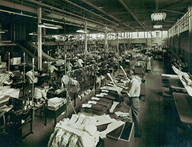 Old photo of Truform manufacturing facility in the 1950s