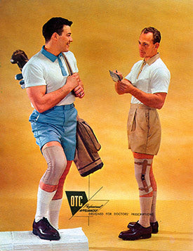 Vintage OTC add of two men wearing braces