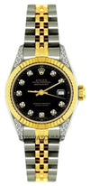 Rolex Datejust 26MM Black Dial With Gold and Stainless Steel Bracelet