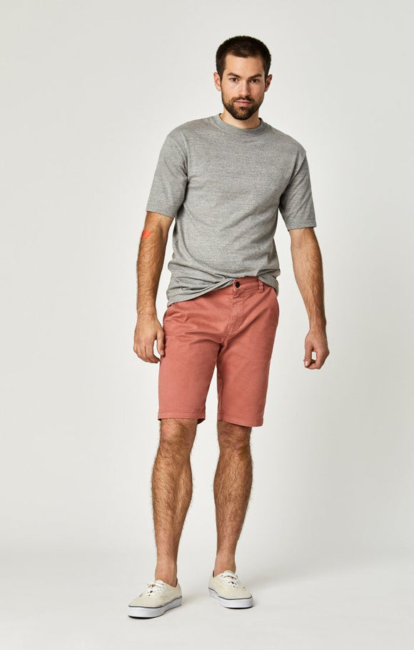 MAVI JACOB BRICK DUST SATEEN TWILL SHORTS