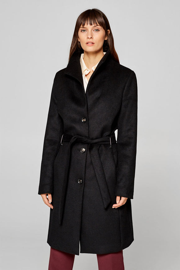 ESPRIT WOOL BLEND SPADE COLLAR COAT