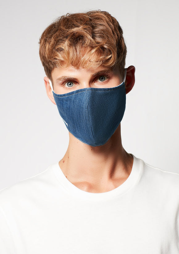 MAVI DENIM FACE MASK LARGE/X-LARGE