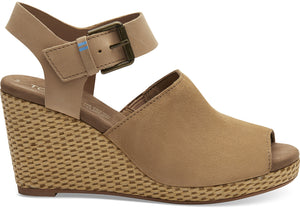 TOMS TROPEZ SUEDE/LEATHER WEDGE