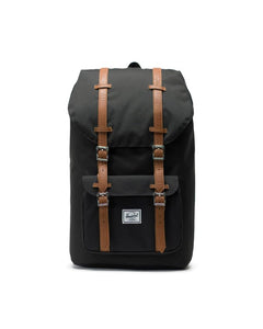 HERSCHEL LITTLE AMERICA BACKPACK 25L BLACK/TAN SYNTHETIC LEATHER