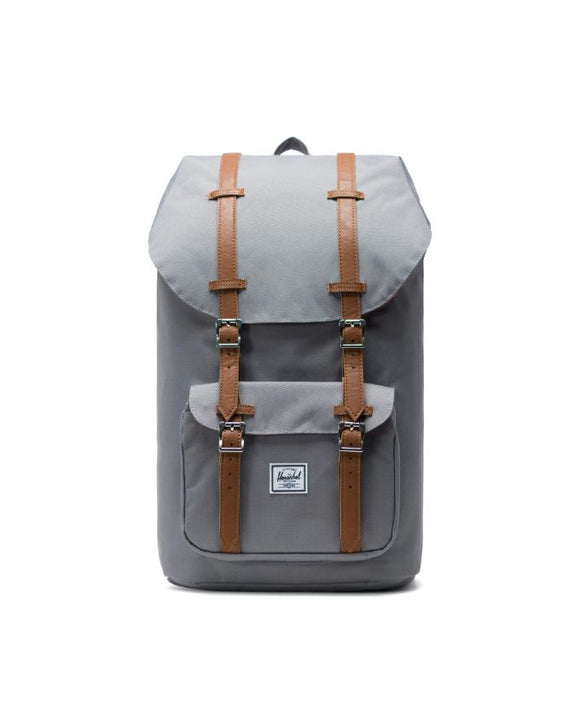 HERSCHEL LITTLE AMERICA BACKPACK 25L GREY/TAN SYNTHETIC LEATHER