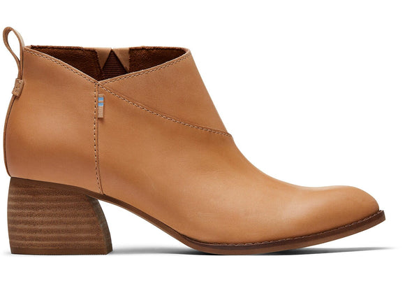 TOMS LEILANI LEATHER BOOTIES