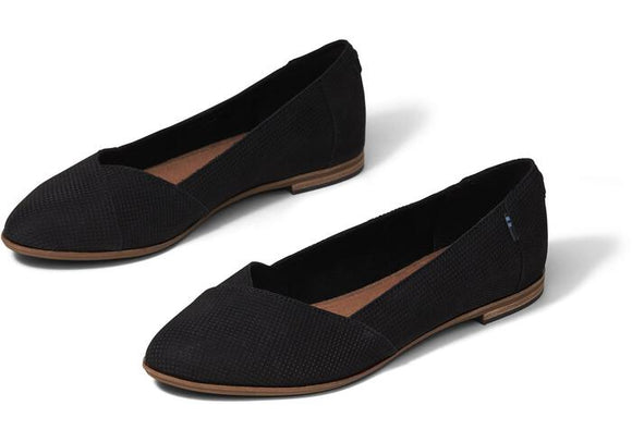 TOMS JULIE FLAT SUEDE PERFORATED