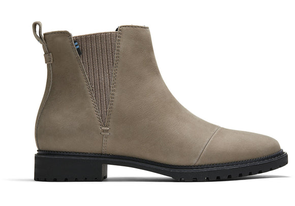 TOMS WATER RESISTANT LEATHER CLEO BOOTIE