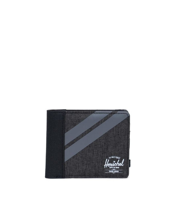 HERSCHEL ROY WALLET BLACK CROSSHATCH/QUIET SHADE/PERISCOPE