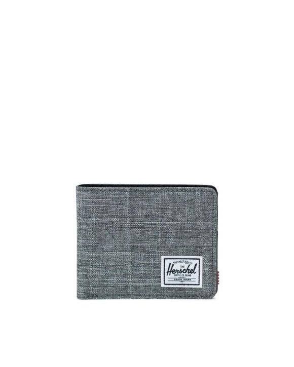 HERSCHEL HANK WALLET RAVEN CROSSHATCH