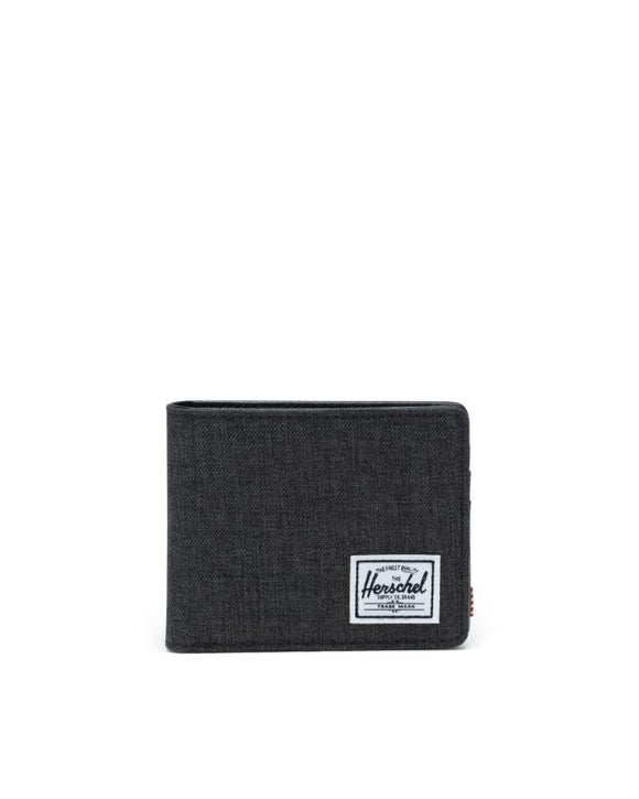 HERSCHEL HANK WALLET BLACK CROSSHATCH