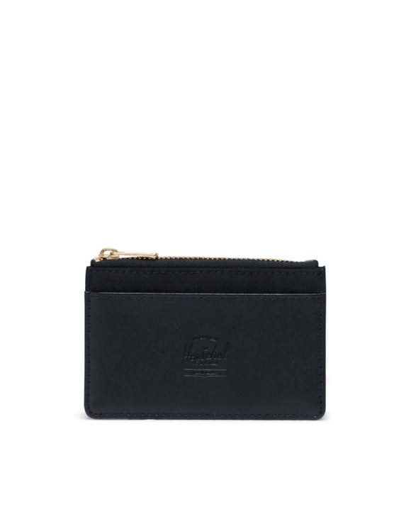 HERSCHEL OSCAR ORION NYLON/LEATHER WALLET BLACK