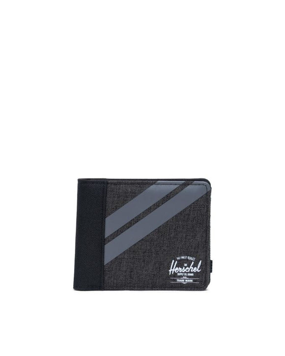 HERSCHEL ROY WALLET COIN BLACK CROSSHATCH/QUIET SHADE/PERISCOPE