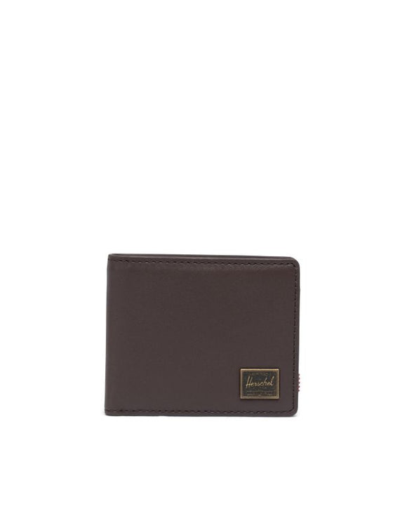 HERSCHEL HANK LEATHER WALLET BROWN