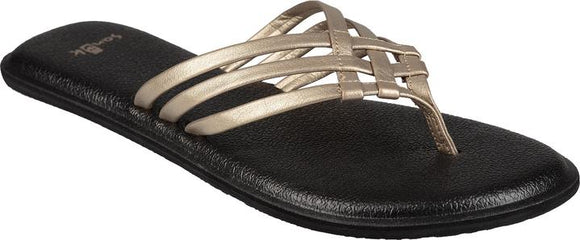 SANUK YOGA SALTY METALLIC SANDALS