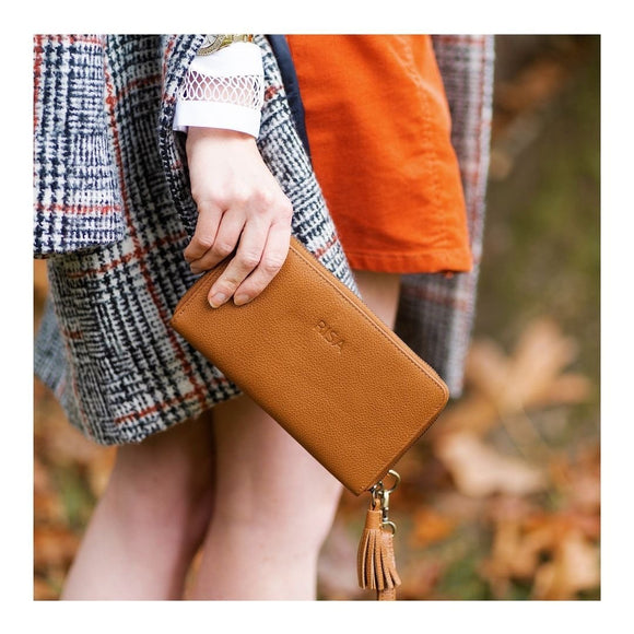 RISA THREE FOLD WALLET TAN