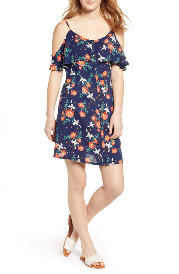 ROXY HOT SPRINGS STREET PRINT DRESS