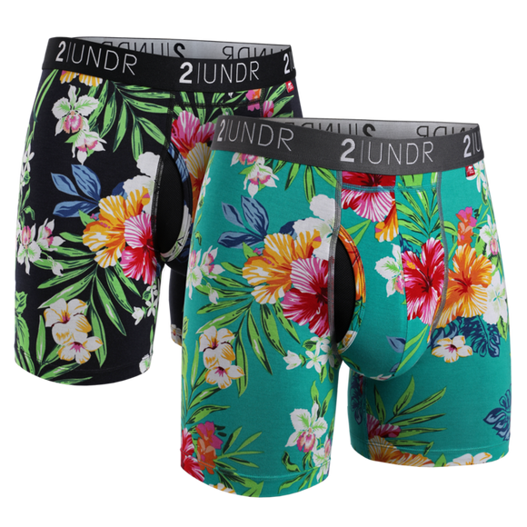 2UNDR 2 PACK SWING SHIFT PRINTS BOXER BRIEF
