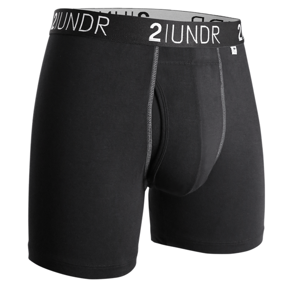 2UNDR SWING SHIFT BOXER BRIEFS BLACK/GREY