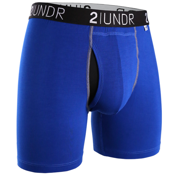 2UNDR SWING SHIFT BOXER BRIEF BLUE/BLUE