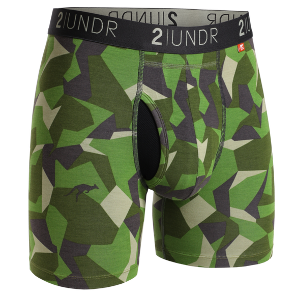 2UNDR SWING SHIFT PRINTS BOXER BRIEF GREEN CAMO