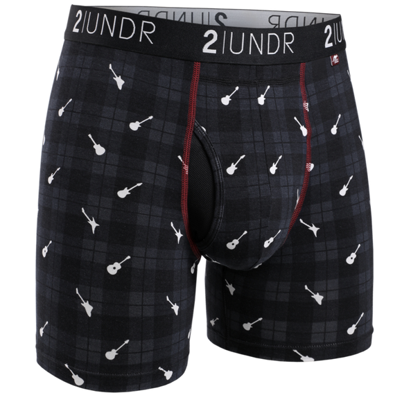 2UNDR SWING SHIFT PRINTS BOXER BRIEF ROCKIN' PLAID
